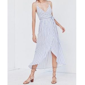 NWT Urban Outfitters Striped Maxi Wrap Dress
